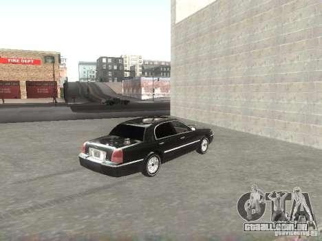 Lincoln Town car sedan para GTA San Andreas traseira esquerda vista