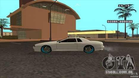Drift Elegy by KaLaSh para GTA San Andreas traseira esquerda vista