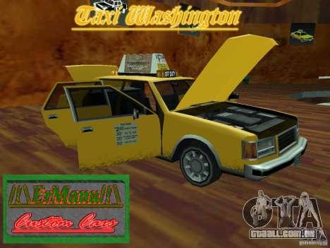 Taxi Washington para GTA San Andreas vista direita