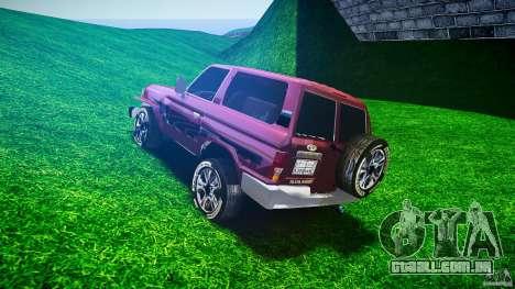 Toyota Land Cruiser 4.5 V2 para GTA 4 traseira esquerda vista