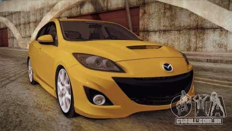 Mazda Mazdaspeed3 2010 para GTA San Andreas esquerda vista