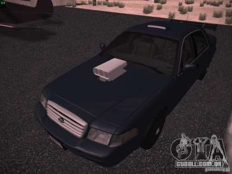 Ford Crown Victoria 2003 para vista lateral GTA San Andreas