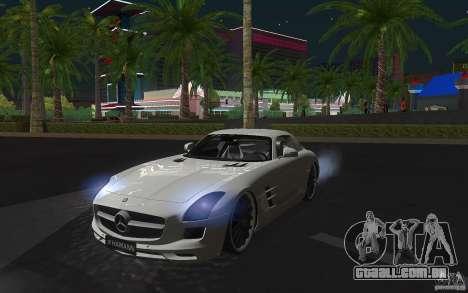 Mercedes Benz SLS HAMANN para GTA San Andreas esquerda vista