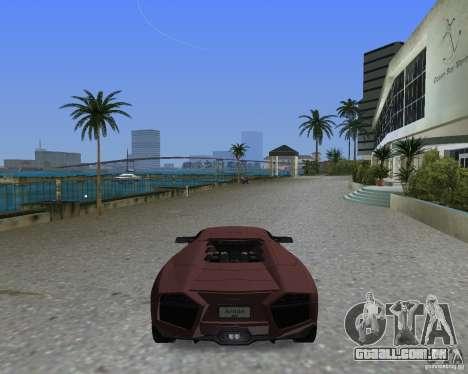 Lamborghini Reventon para GTA Vice City deixou vista