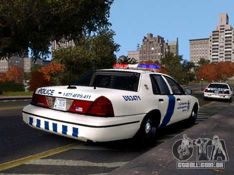 Ford Crown Victoria Homeland Security para GTA 4 esquerda vista