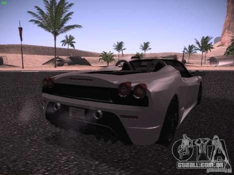Ferrari F430 Scuderia M16 para GTA San Andreas traseira esquerda vista