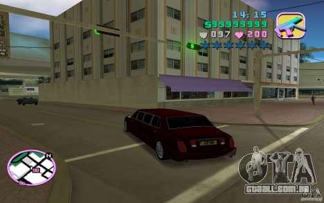 Rolls Royce Silver Seraph para GTA Vice City vista traseira esquerda