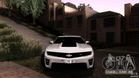 Chevrolet Camaro ZL1 2011 v1.0 para GTA San Andreas vista interior