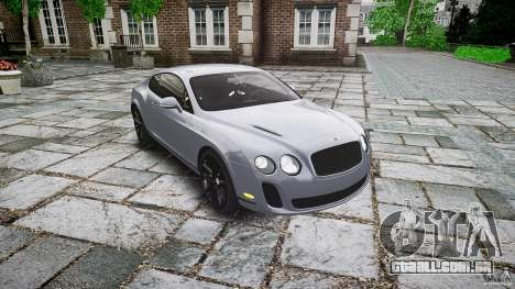 Bentley Continental SuperSports 2010 [EPM] para GTA 4 vista de volta
