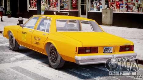 Chevrolet Impala Taxi 1983 [Final] para GTA 4 vista inferior
