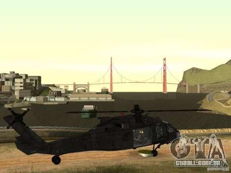 O helicóptero de CoD 4 MW para GTA San Andreas vista traseira