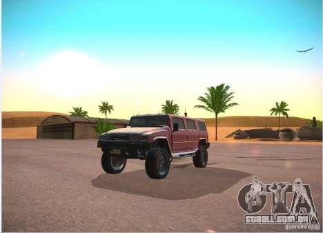 Patriota do GTA 4 para GTA San Andreas vista traseira