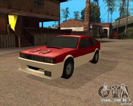 Blistac melhorada para GTA San Andreas vista traseira
