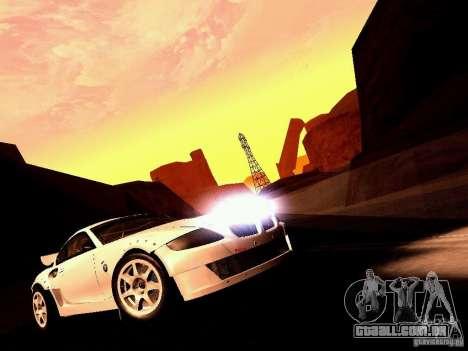BMW Z4 Rally Cross para GTA San Andreas vista traseira