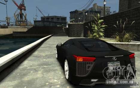 Lexus LFA v1.0 para GTA 4 traseira esquerda vista