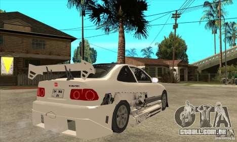 Honda Civic Tuning Tunable para GTA San Andreas vista interior