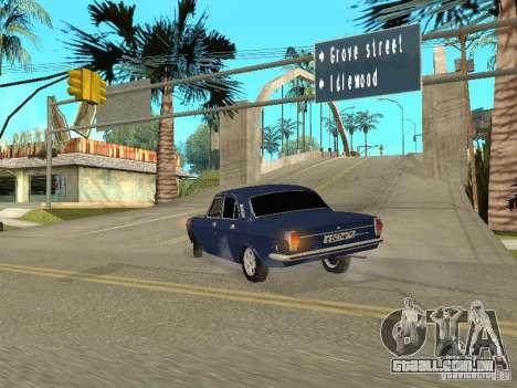 GAZ 24-10 para GTA San Andreas vista traseira