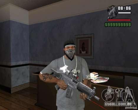 Mira a laser rifle para GTA San Andreas terceira tela