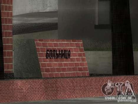 Novo hospital de texturas para GTA San Andreas terceira tela