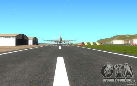 Sukhoi SuperJet-100 para GTA San Andreas vista direita
