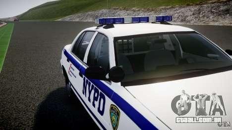 Ford Crown Victoria NYPD [ELS] para GTA 4 rodas