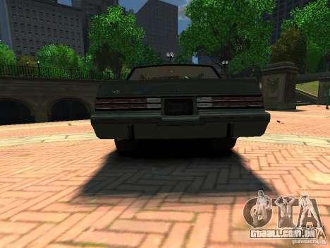 Buick Regal GNX para GTA 4 traseira esquerda vista