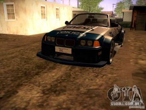 BMW M3 E36 para GTA San Andreas vista superior