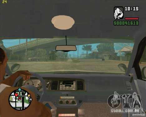 Ford Crown Victoria Baltmore County Police para GTA San Andreas vista interior