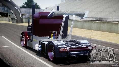 Peterbilt Sport Truck Custom para GTA 4 vista lateral