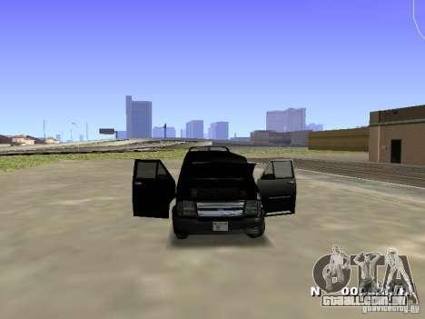 Burrito HD para GTA San Andreas traseira esquerda vista