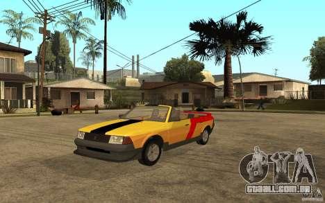 Moskvich 2141 Cabriolet para GTA San Andreas esquerda vista