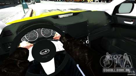Subaru Legacy B4 para GTA 4 vista de volta