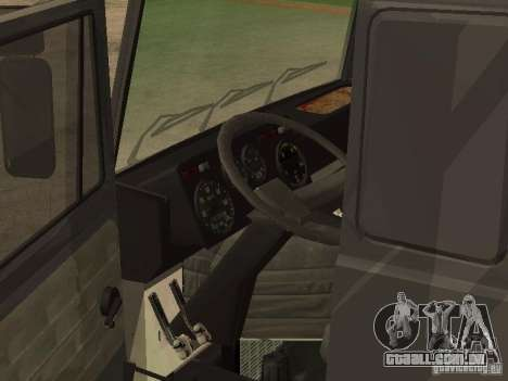 Caminhão MAZ 5336 para GTA San Andreas traseira esquerda vista