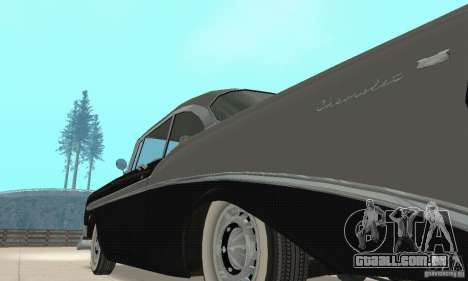 Chevrolet Bel Air 1956 para GTA San Andreas vista interior