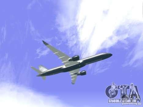 Boeing 757-200 United Airlines para GTA San Andreas vista traseira