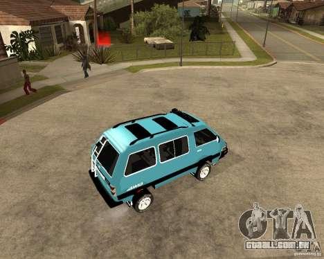 Toyota Town Ace para GTA San Andreas vista traseira