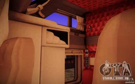 Kenworth T600 para GTA San Andreas interior