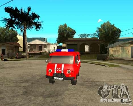 Brigada de incêndio UAZ para GTA San Andreas vista interior