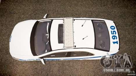 Honda Accord Type R NYPD (City Patro 1950l) ELS para GTA 4 vista direita