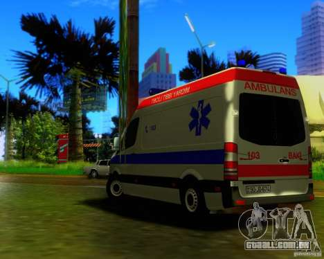 Mercedes-Benz Sprinter Baku Ambulans para GTA San Andreas vista interior