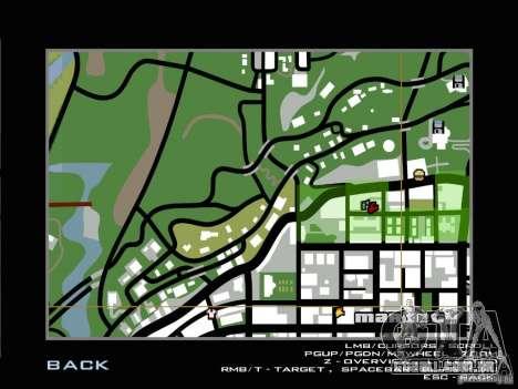 Ultra HD placa para GTA San Andreas por diante tela