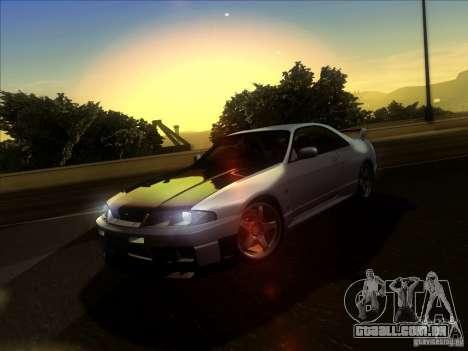 Nissan Skyline GTR BNR33 para GTA San Andreas vista interior