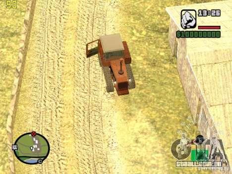 Tractor DT-75 carteiro para GTA San Andreas vista superior