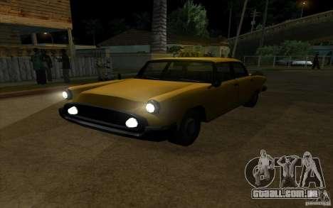 Glendale Cabbie para GTA San Andreas vista traseira
