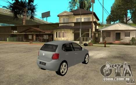 Volkswagen Polo 2011 para GTA San Andreas vista direita