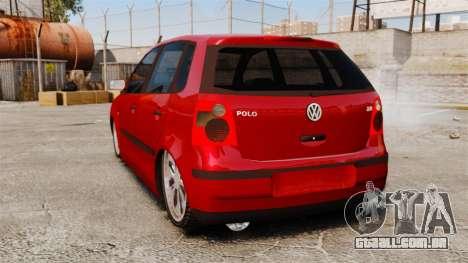 Volkswagen Polo Edit para GTA 4 traseira esquerda vista
