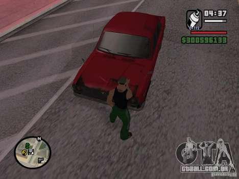 Redesenho do atuador para GTA San Andreas por diante tela