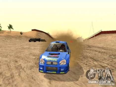 Subaru Impreza WRC 2003 para GTA San Andreas vista direita