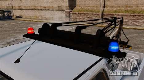 Rancher Tow Truck ELS para GTA 4 vista interior