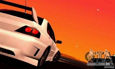 Mitsubishi Lancer Evo VII para GTA San Andreas traseira esquerda vista